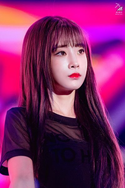 Tags: K-Pop, Lovelyz, Yoo Jiae, Looking Up, Red Lips
