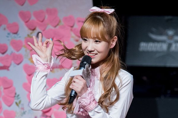 Tags: K-Pop, Lovelyz, Yoo Jiae, Hair Up, Ponytail, Microphone, Hair Flip