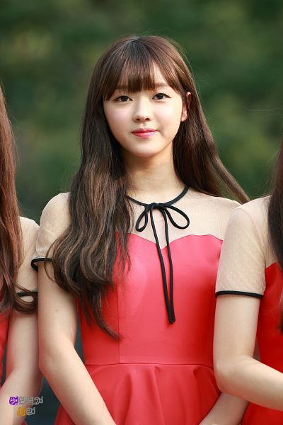 Tags: K-Pop, Oh My Girl, Yooa, Red Outfit, Red Dress, Android/iPhone Wallpaper