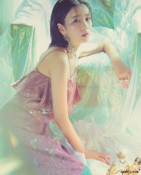 Tags: K-Pop, Apink, Yoon Bo-mi, Ring, Wet, Sleeveless, Sleeveless Shirt, Pink Dress, Wet Hair, Pink Outfit, Bare Shoulders, Scan