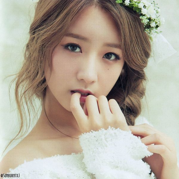 Tags: K-Pop, Apink, No No No, Yoon Bo-mi, Single Braid, Close Up, Flower Crown