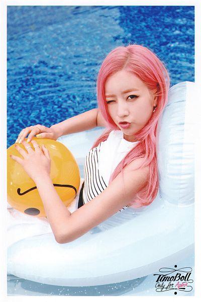 Tags: K-Pop, Apink, Yoon Bo-mi, Swimming Pool, Pink Hair, Water, Pink Memory