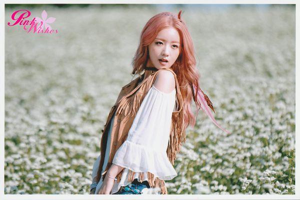 Tags: K-Pop, Apink, Yoon Bo-mi, Pink Hair, Wallpaper, Pink Memory, Scan
