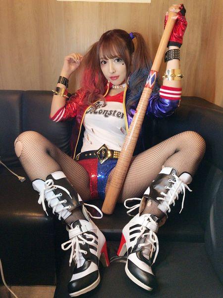 Tags: Honey Popcorn, Yua Mikami, Spread Legs, Cosplay, Fishnets, Suggestive