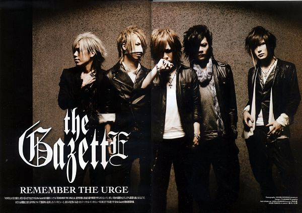 Tags: J-Pop, the GazettE, Uruha (the GazettE), Ruki (the GazettE), Kai (the GazettE), Reita (the GazettE), Aoi (the GazettE), Black Pants, Medium Hair, Full Group, Black Jacket, Leather Jacket