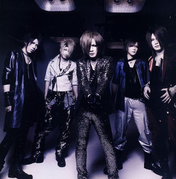 Tags: J-Pop, the GazettE, Aoi (the GazettE), Uruha (the GazettE), Ruki (the GazettE), Kai (the GazettE), Reita (the GazettE), Black Jacket, Blue Jacket, Black Outerwear, Group, Black Shirt