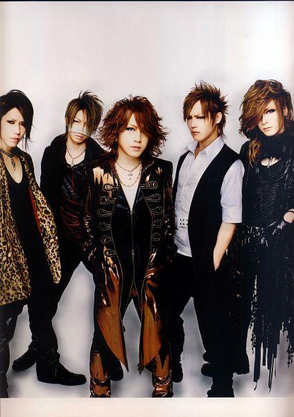 Tags: J-Pop, the GazettE, Kai (the GazettE), Reita (the GazettE), Aoi (the GazettE), Uruha (the GazettE), Ruki (the GazettE), Light Background, Boots, White Background, Brown Outerwear, Medium Hair